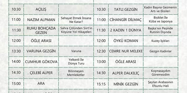 Seyyah 16' programı