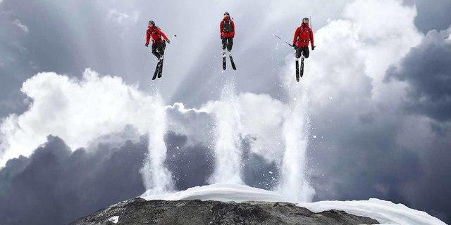 Çekimler sırasında yararlanılan tek spor dalı dağcılık değildi