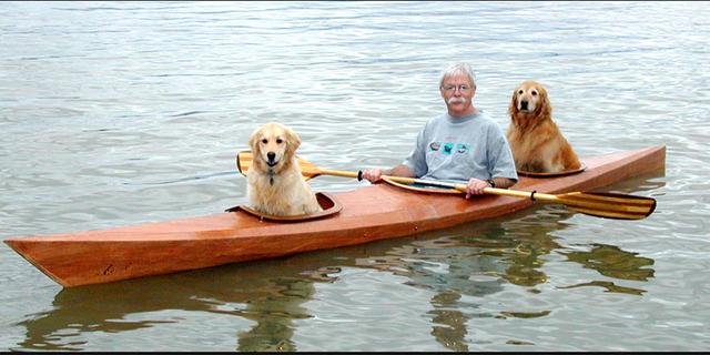 David ve köpeklerinin mutlu tablosu