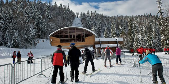 Karstik yapılı dağlarda kayaklı koşu da yapabilirsiniz
