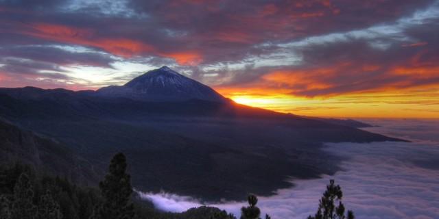 Teide İspanya'nın sen yüce bir dağısın