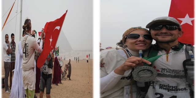 Bayrağın dalgalanması, madalya takmanın ve yarış tamamlamanın verdiği gurur