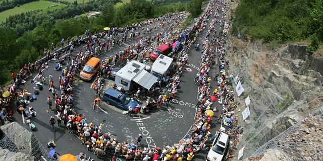 Fransa Turu'nun en virajlı tırmanışı Alpe d'Huez