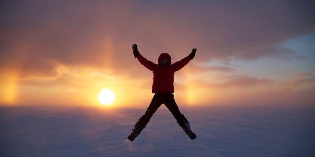 Marıa'nın mutluluğu ve gün batımı