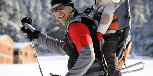 Ali Rıza Bilal ve oğlu Atlas kros kayakta!