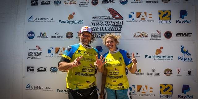 Efsane rüzgar sörfçüsü Björn Dunkerbeck ve Zara Davis