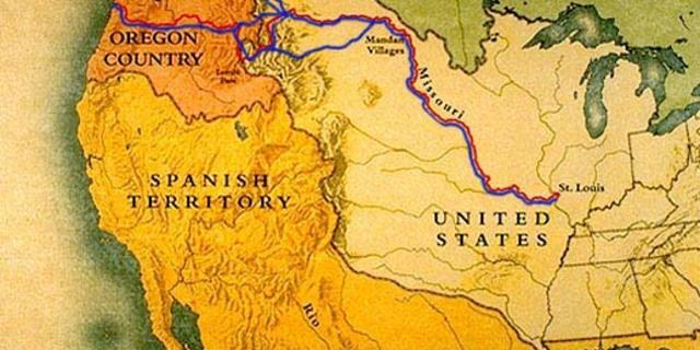 Lewis ve Clark'ın rotası