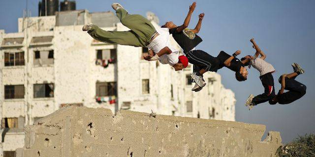 Filistinli Gençler ve Parkour