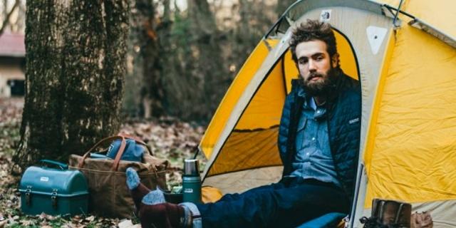 Daniel bazen doğanın koynunda çadır da kuruyor