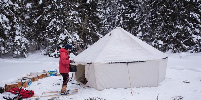 Bu çadır profesyonel ellerden çıkmış