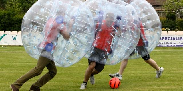 Futbol + Zorbing = Futzorb