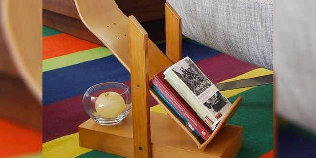 Dergi ve kitaplarınız için başka bir raf örneği