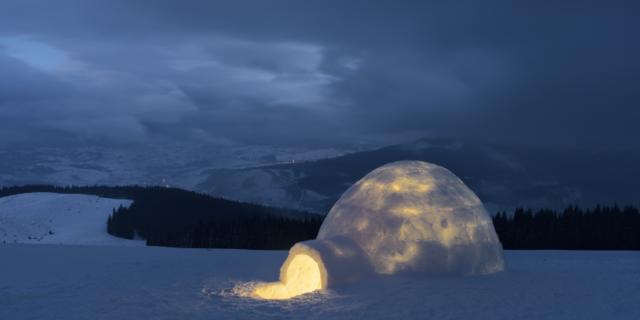 Karda çadır kurmak mı?