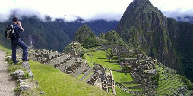 Machu Picchu'ya giderken