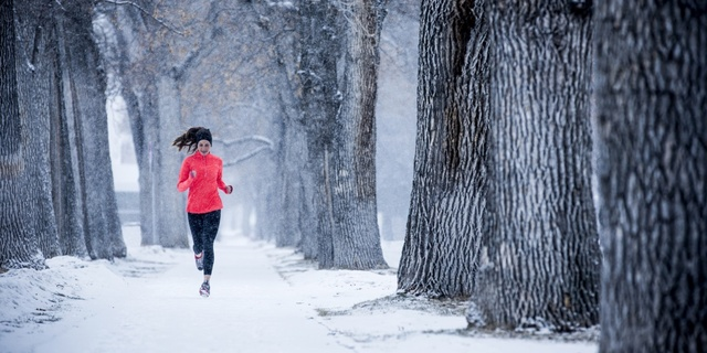 Gördüğünüz gibi kara kışta koşmak hiç zor değil