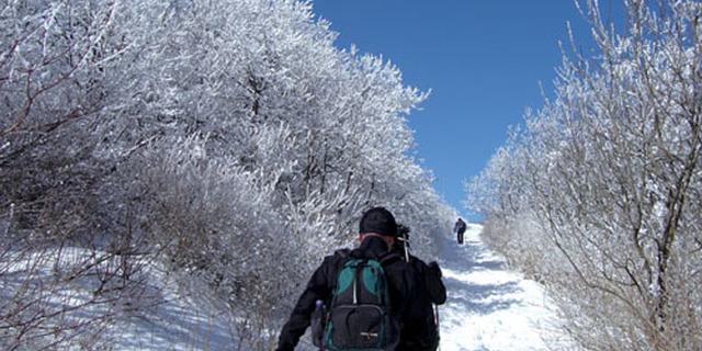 Kışın trekking yapmanın tadı başka