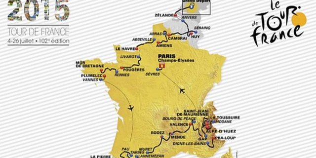 2015 Tour de France rotası