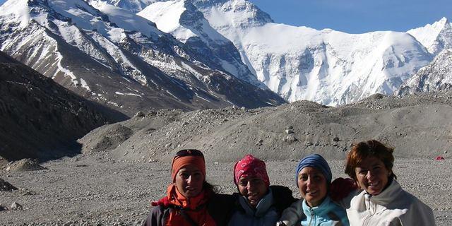 Everest ana kampında Türkiye'den Everest'e çıkan ilk kadınlar