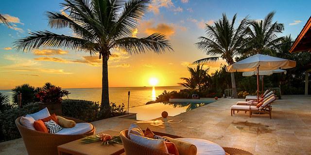 Turks ve Caicos adalarından tipik bir ev