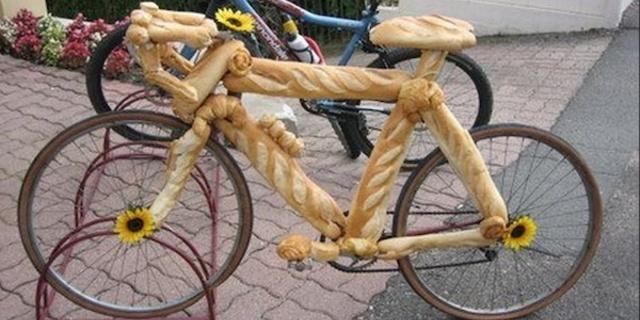 Böyle bir bisikletiniz olsa kahvaltıya gerek kalmazdı!