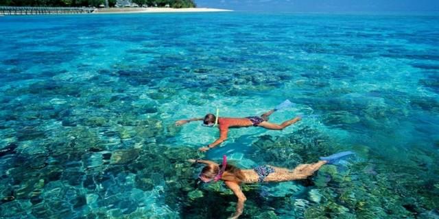 Şnorkel sığ sular için ideal