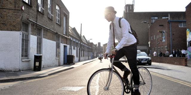 Avrupa'da işe bisikletle gelip gitmek çok yaygın