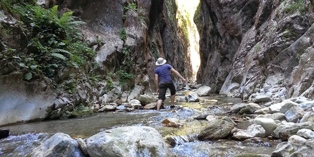 Müflisdere Kanyonu'nda trekking...