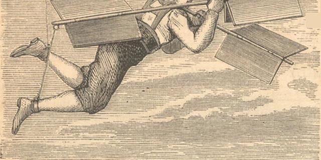 Besnier'nin uçuşunu gösteren bir çizim