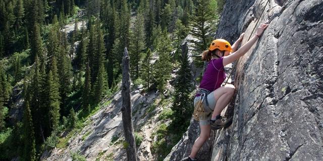 Grand Teton'da bir tırmanışçı