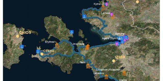 İşte EuroVelo 8'de yer alan İzmir rotası...