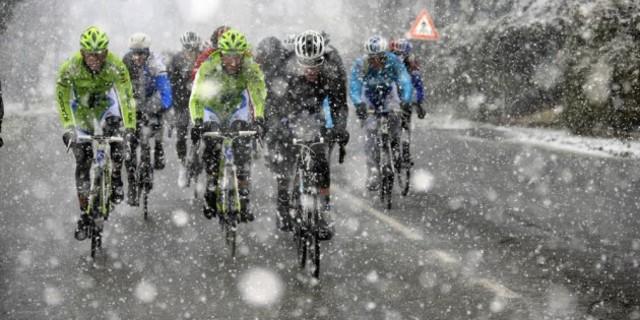 Gördüğünüz gibi kışın da bisiklete binen çok