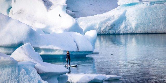 Buzul paddleboard'u