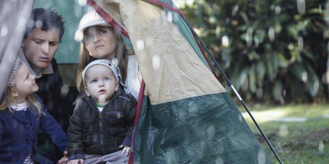 Yağmurda kamp çok da keyifli olmayabilir!