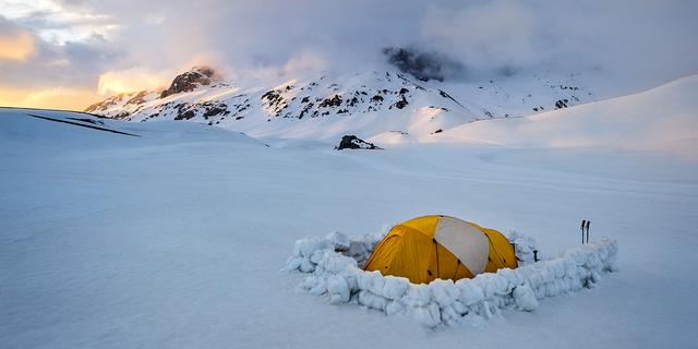 Yılmaz'ın tek başına gittiği Isparta Davraz Dağı'ndaki kamp alanı.