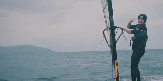 4 5 aylik sakatliktan sonra ilk windsurf - 9334