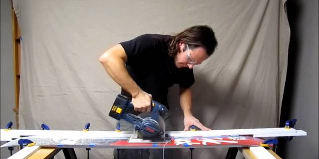 Garajda splitboard üretimi
