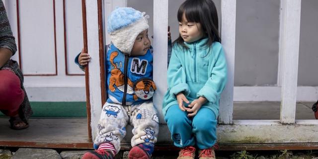 Küçük Chow diğer çocuklarla kaynaşıyor