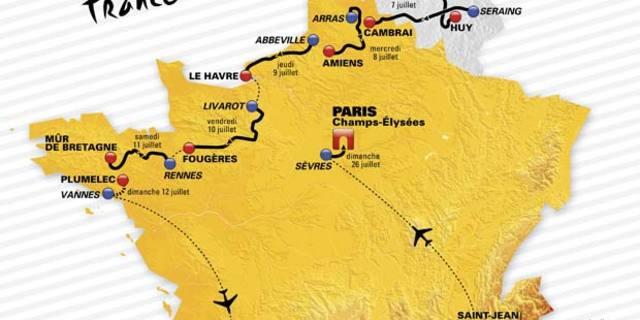 Tour de France 2015 haritası