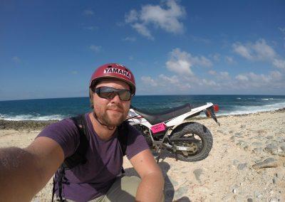 Danan on the beach in Aruba