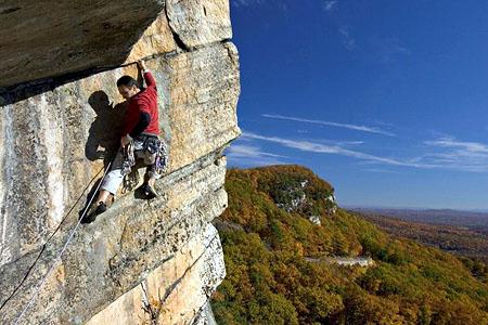 Lead-climbing