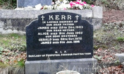 James & Alice Kerr gravesite, Belfast