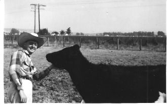 Walter McCoy and cow