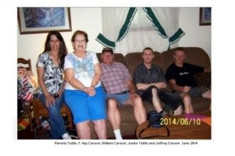 Pam, Kay, Bill, Justin and Jeff Carson