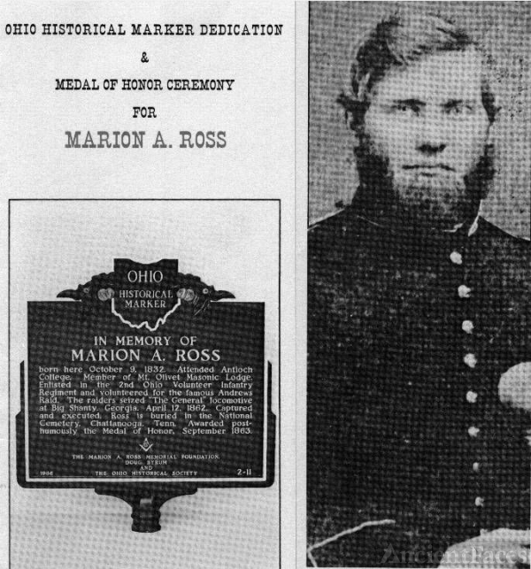 Ross Memorial Marker & Photograph