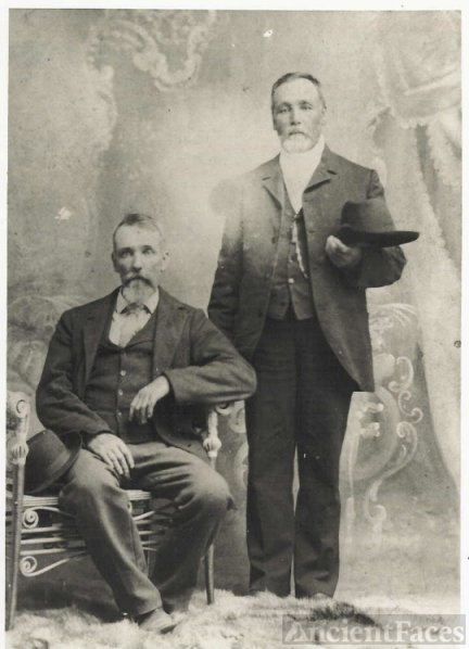 Isaac Miller with Brother Pleasant Miller