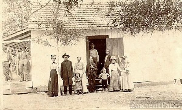 Isaac Newton Barrs Family and General Store
