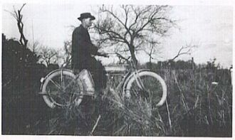 James E. Frank & Motorcycle