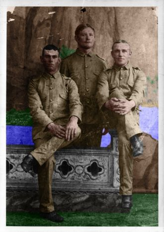 3 Soldiers-35th Inf  Rgmt American Volunteers