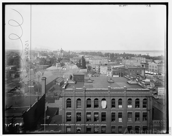 General view east from Post Office, Port Huron, Mich.