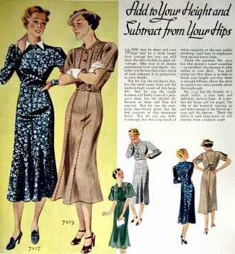 Vogue patterns for the 1930's